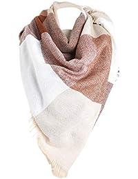 c468ab7e87ae GreatestPAK Vêtements foulards Écharpe à carreaux femmes hiver couleur  chaude couture longue laine châle ...