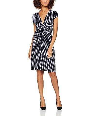 Krisp Damen A-Linie Kleid 6488, Midi, Gepunktet, Gr. 48 (Herstellergröße: