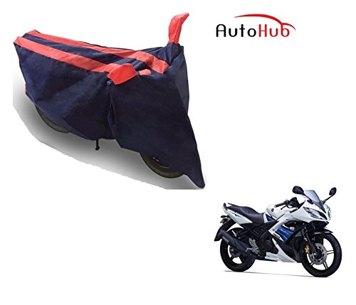 Auto Hub Bike Body Cover For Yamaha YZF R15 S - Black Orange  available at amazon for Rs.275