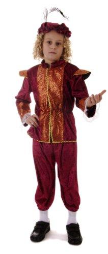 TUDOR Höfling Kostüm für Kinder, Größe 4-6Jahre (U20072)