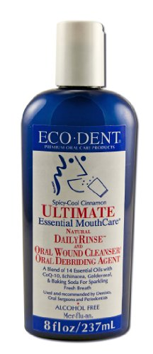 Eco-Dent Ultimate Daily Mouth Rinse, Cool Cinnamon 8 oz by Eco-Dent