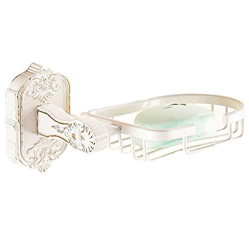 Seifenkistenbehälter Bad Antike Seifenschale Wandhalterung Zinklegierung Galvanik Finish, Elfenbein Reise-Seifen-Etui (Farbe : Ivory) -