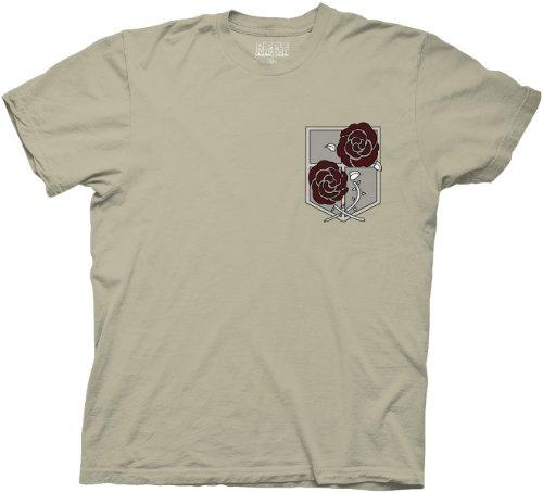 Ripple Junction Angriff auf Titan Radiozeit keine Kyojin 100% Baumwolle Cosplay Kostüm Erwachsene T-Shirt Tee (Kostüm Adult T Shirt Tee)