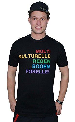 """T-Shirt """"Multikulturelle Regenbogenforelle"""", XXL - Angler-Shirt * T-Shirt für Angler * 100% Baumwolle - Rundhals - Von XS bis XXXL"""