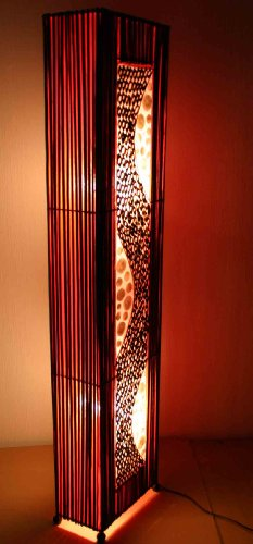 Best Price Asian Floor Lamp Ubud Red (LA12-70), Designer Bali Light Decoration Discount