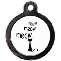 Meow ID Tag Disc - Cat Name Tags Discs - Personalised FREE on Reverse