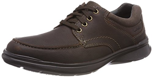 Clarks Herren Cotrell Edge Derby, Braun (Brown Oily-), 42 EU