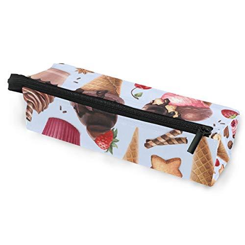 Sonnenbrille Fall Stift Federmäppchen schöne Eis süß Muster Schreibwaren Beutel Aufbewahrungsbox Kosmetiktaschen Brillen Tasche mit Aufhängeöse