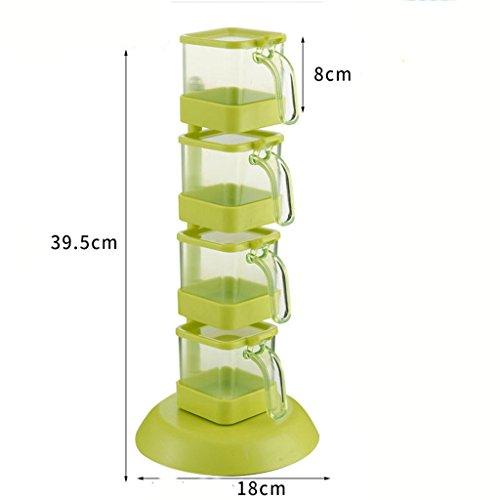 L&Y Meuble de cuisine Assiette à assaisonnement à roulettes Étagère de rangement (Couleur : Green)
