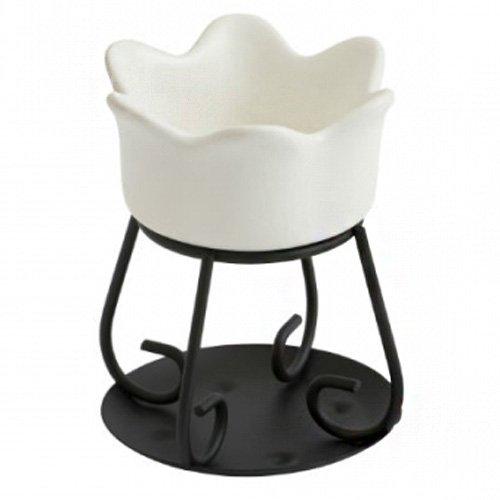 Yankee Candle Petal Bowl Bruciatore per Tart Petalo Ciotola Bianco, , Metallo,...