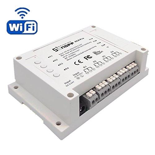 HEANTTV Sonoff 4CH Pro Switches Wifi Funkfernbedienung Schalter - 4 Gang Inching Selbstverriegelnde Verriegelung WiFi RF Smart Socket (Automatische Sperre Wifi)