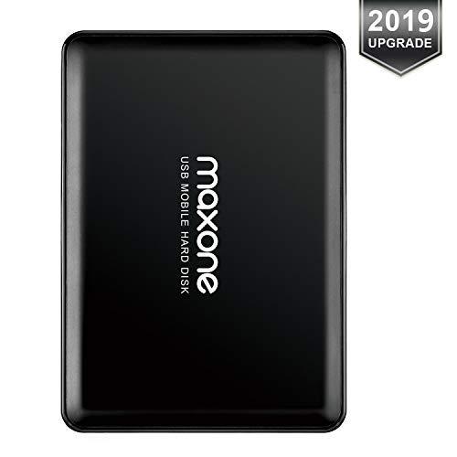 320Go Disque Dur Externe Portable 2.5' USB3.0 Stockage HDD pour PC, Mac, MacBook, Chromebook, Xbox One, Xbox 360, PS4, PS4 Pro, PS4 Slim (Noir)