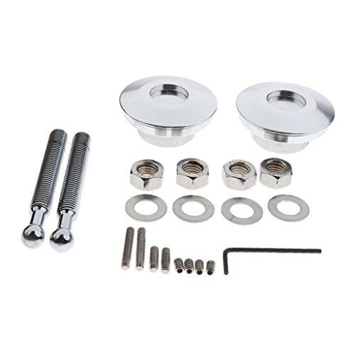 Preisvergleich Produktbild Homyl 2 Stück Universal Schnellspanner Latch Low Profile Hood Pins Druckknopf Quick Latch Low Profile - Silber