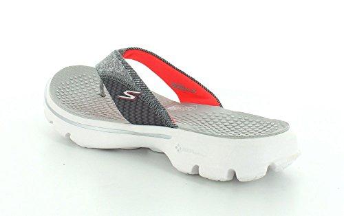 Skechers - Go Walk Nestle, Sandali Donna GYPK - Gray/Pink