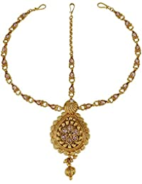 Banithani goldtone traditional party wear forehead matha patti ethnic bollywood jewellery