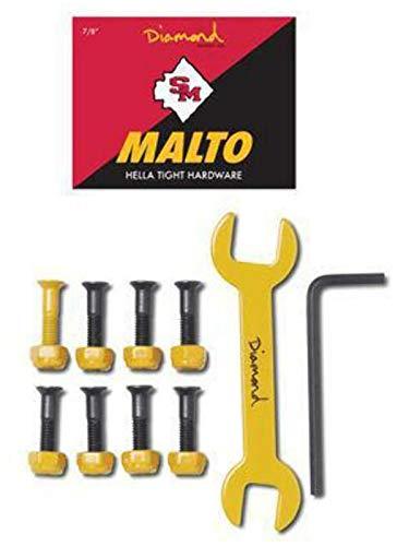 Diamond Supply Co. Gelb Sean Malto Pro - 0.875 Inch Skateboard-Werkzeug-Set (One Size, Gelb) (Diamond Supply Skateboard)