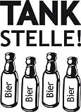 Graz Design 620488_40_070 Kühlschrank Aufkleber Wandtattoo Tattoo für Küche Tankstelle Bier Flaschen (Größe=56x40cm//Farbe=070 schwarz)