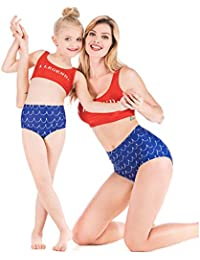 d92fe3080263 JOler Mamma e Figlia Costume da Bagno Famiglia Abiti Coordinati, Mamma e Me  Vestiti Costumi da Bagno Mamma e Ragazza Bikini Donna,…