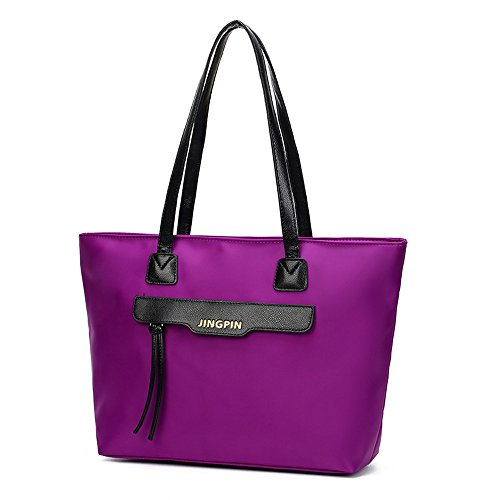 Longra Borsa a tracolla della borsa di modo delle donne Viola