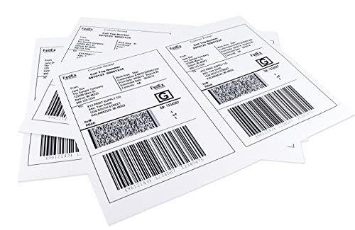 chromalabel Hälfte Bogen Versand Etiketten, kompatibel mit Laser- und Tintenstrahldrucker, 8,5x 14, 100Etiketten