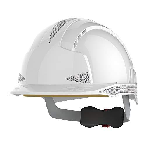 JSP ajb170-400-100Evolite CR2rueda trinquete casco, con ventilación, color blanco