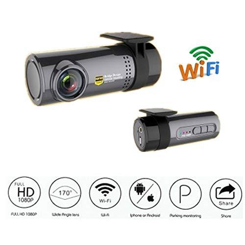 TIANZZ Smart Dash Cam mit integriertem WLAN, Sprachsteuerung, Notfallaufnahme, HD 1080P, 140 ° Weitwinkel-Autokamerarecorder,Gray Wlan-dash-fernbedienung