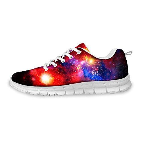 AXGM Herren Laufschuhe Turnschuhe Straßenlaufschuhe Schuhe Bunter Universum Galaxy Sternenklarer Himmel Druck Sommer Mode Sportschuhe Fitness Atmungsaktiv Sneakers C016 EU 43 (Universum Turnschuhe)