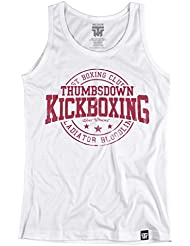 Thumbsdown Kickboxing Tank Top. Vest. Hard Workout. Thumbsdown Last Fight. Gladiator Bloodline. Martial Arts. Fightwear. Training. Casual. Gym. MMA T-shirt