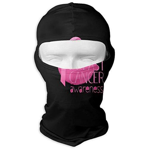 Xukmefat Pink Breast Cancer Awareness Tactical Multi Use Sport-Gesichtsmaske-leichter Bandana für das Wandern, Laufen Breast Cancer Fleece