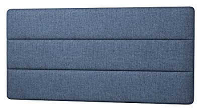 Happy Beds Cornell Lined Headboard, Fabric, Midnight Blue Cotton, 5 ft, King Size - cheap UK light shop.