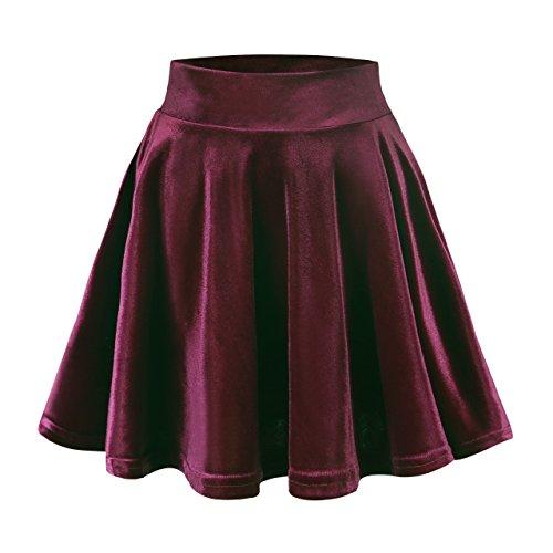 Urban GoCo Mini Falda Elástica Patinadora Terciopelo