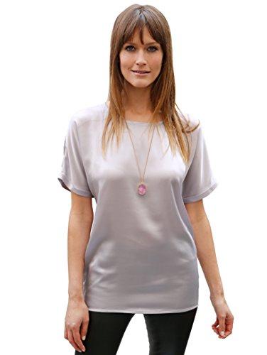 Damen Bluse in modischer Oversize Form by AMY VERMONT Hellgrau