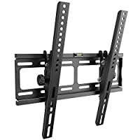 RICOO Strong TV Wall Bracket Mount R09 Super Ultra Slim & Tilt for approx 30-65 Inch Screens | Mounting Holder also for Curved Television | Universal for VESA 200x100 400x400 Black