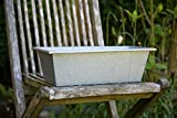 KUHEIGA Blumenkasten 60cm verzinkt Blumentopf, Balkonkasten