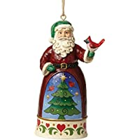 Enesco Hearwood Creek By Jim Shore Hwc Sospensione Babbo Natale Uccellino, Pvc, Multicolore, 8x9x10 cm - Enesco Natale