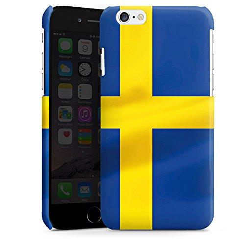 Apple iPhone 5s Housse Étui Protection Coque Suède Suède Drapeau Cas Premium brillant