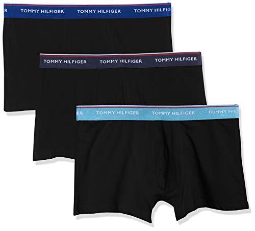 Tommy Hilfiger Herren 3P Trunk Boxershorts, Mehrfarbig (Ethereal Peacoat/Sodalite Blue 038), Large (Herstellergröße: LG)