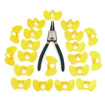 Atoz prime 20PCS Pinless Peepers Chicken Blinders Chicken Spectacles Glasses with Pliers