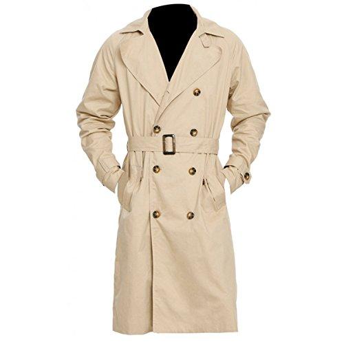 Red Smoke Supernatural Castiel Kostüm Trenchcoat Gr. XL, beige