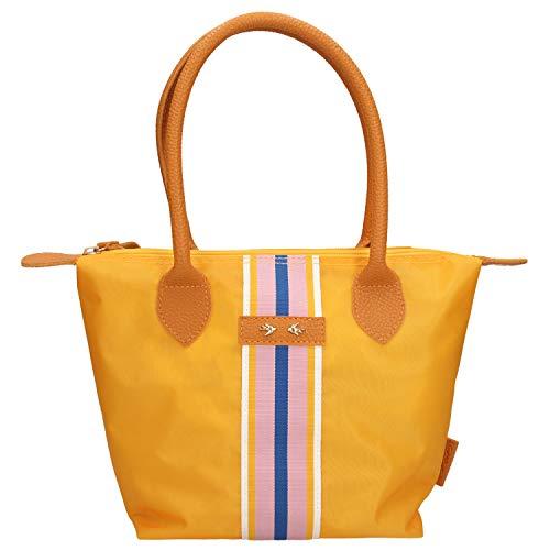 Depesche 10327 Handtasche mit Streifen, Trend Love, gelb, ca. 21 x 31 x 13 cm, bunt