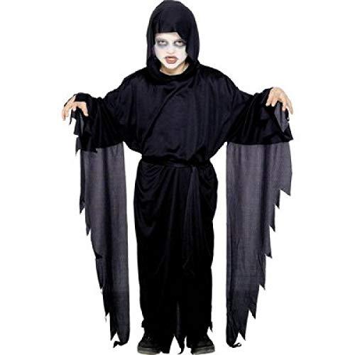Kostüm Erzengel - Nick and Ben Geist Kinder-Kostüm Dämon-Verkleidung Sensen-Mann Gespenster-Umhang Gewand Schwarz Erz-Engel Teufel Halloween Scream Sensenmann