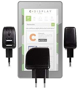 Chargeur secteur USB pratique et compact 2 amp DURAGADGET pour Tablette Haier Android de Cdiscount, C-Display 7 pouces