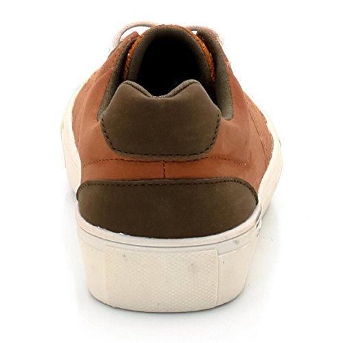 Abcd'r Jungen Sneakers, Schnurung Camel