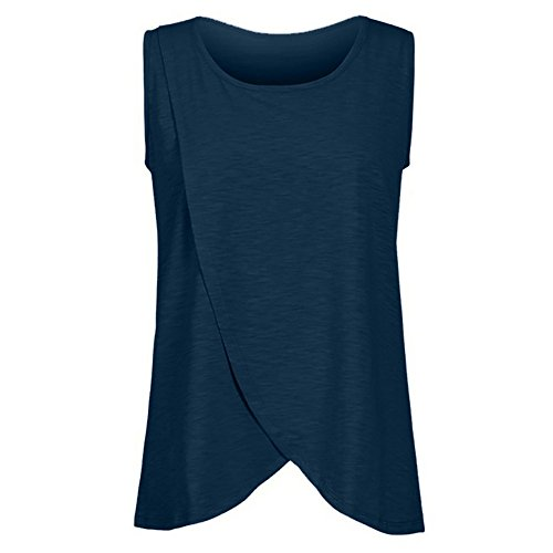 Topgrowth Camicie da Notte Premaman Maglietta Allattamento Donna Allentato Top T Shirt Senza Maniche Maternity Blusa Tank Top