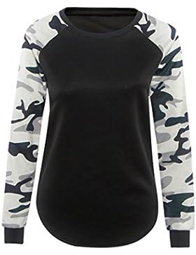 Blusas de Mujer, Oyedens Camiseta de manga larga de manga larga para mujer