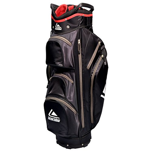 Longridge GOLF BAG EXECUTIVE CART BAG, BLACK/SILVER