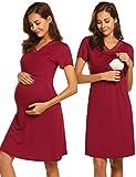 MAXMODA Damen Schönes Mutterschafts Kleid Umstandskleid Sommer Kleid Zum Stillen