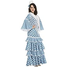 My Other Me Disfraz de flamenca Huelva para mujer, color turquesa, S (Viving