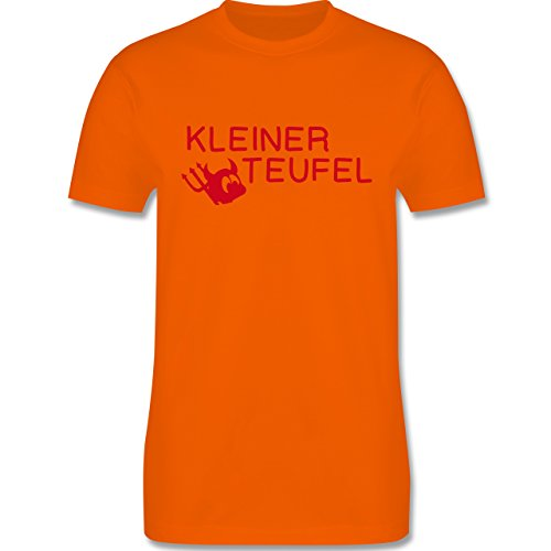 Sprüche - Kleiner Teufel - Herren Premium T-Shirt Orange