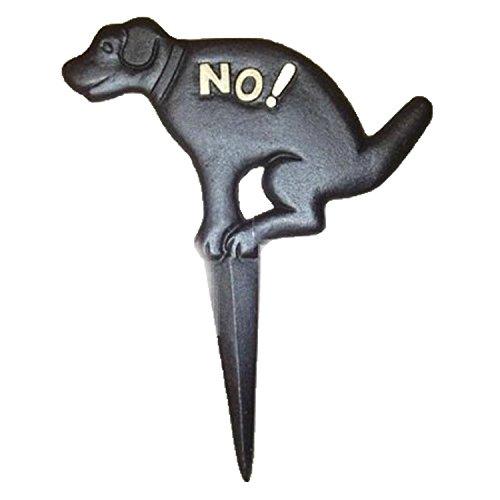 rampro keine Pooping Naughty Hund schwarz Yard Schild mit dem Spiel aus Gusseisen -
